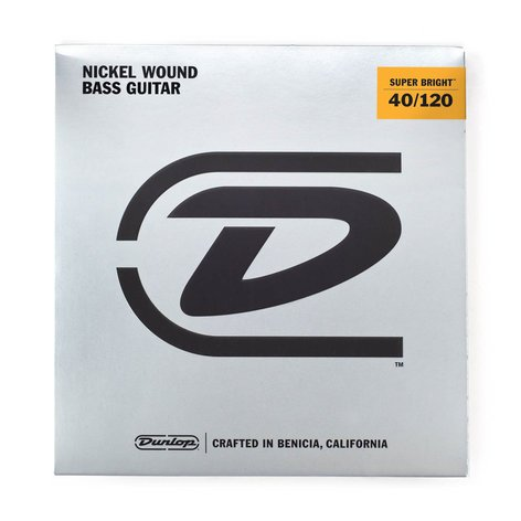 Dunlop Manufacturing Super Bright Nickel Wound Bass Strings 5-String LIght Gauge Set - 40-120 DBSBN40120