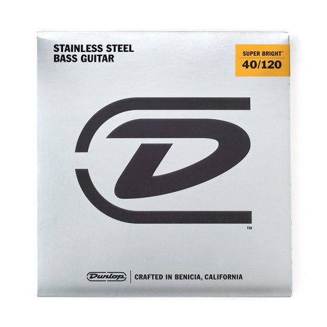 Dunlop Manufacturing Super Bright Steel Bass Strings 5-String Light Gauge Set - 45-105 DBSBS40120
