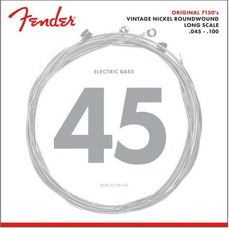 Fender 7150ML .045-.100 Medium Light Long Scale Pure Nickel Electric Bass Strings 7150ML