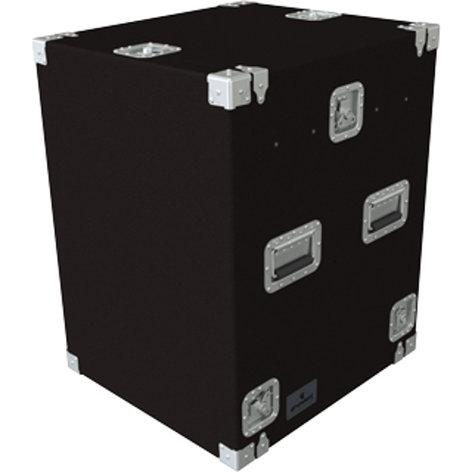 Grundorf Corp TLR-12DR Carpet Series Top-Load Rack with 10RU Slant Top, 12RU Bottom TLR12DR-BLACK