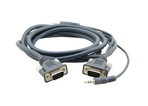 Kramer C-MGMA/MGMA-6 15-Pin HD Male to Male + Audio Micro VGA Cable, 6 ft. C-MGMA/MGMA-6