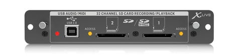 Behringer X-LIVE  X32 Expansion Card for 32-Channel Recording on SD/SDHC or USB Interfaces X-LIVE