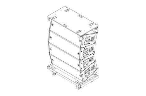 JBL VTX A12 VT Vertical Transporter Vertical Transport Cart for (4) VTX A12 Enclosures VTX-A12-VT