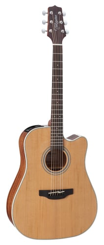 Takamine GD20CE NS G20 Series Dreadnought Cutaway Acoustic Electric Guitar, Natural Satin GD20CE