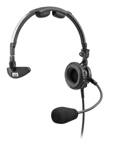 RTS LH-300-DM-A4F Single Sided Microphone Headset with A4F Connector LH-300-DM-A4F