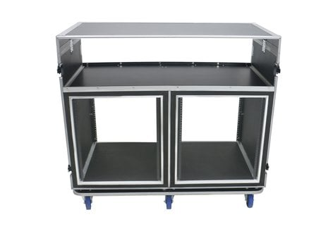 Elite Core Audio ATA-FOH-2SL  OSP Deluxe Front of House System with Dual 12RU Racks and Standing Lid Tables ATA-FOH-2SL