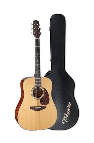 Takamine EF340S-TT TT Series Acoustic-Electric Dreadnought Guitar with Hardshell Case EF340STT