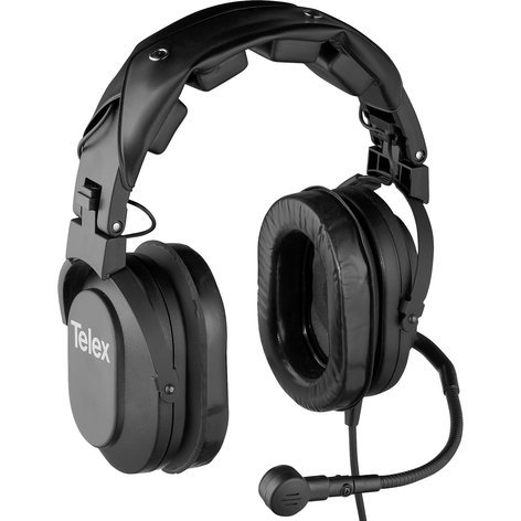 Telex HR2-300534-000 Dual-sided Medium-weight Passive Noise Reduction Headset, A4F Connector HR2-300534-000