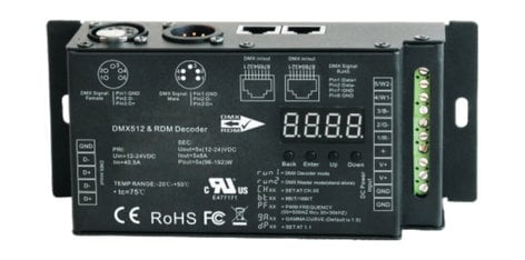 Rosco Laboratories RoscoLED Variable PWM DMX Decoder 5 x 8A DMX Decoder for Rosco LED Products 293222610001