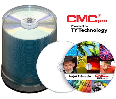 JVC TCDR-WPP-SK 100-Disc Tape Wrap of CMC Pro 48X White Inkjet (Hub Printable) CD-R TCDR-WPP-SK