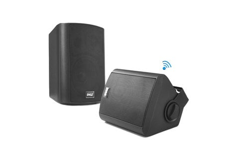 Pyle Pro PDWR52BTBK  Indoor/Outdoor Wall-Mount Bluetooth® Speaker System, Black PDWR52BTBK
