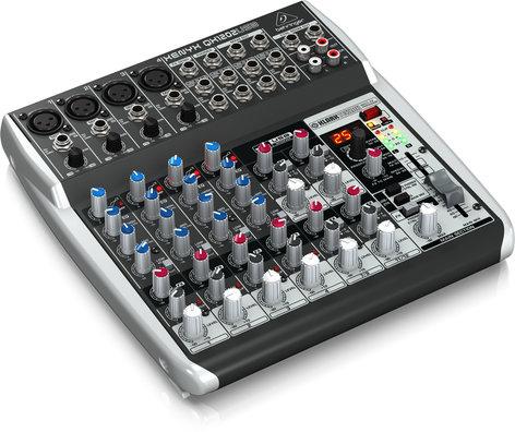 Behringer QX1202USB 12-Ch 2-Bus USB Mixer, with Klark Teknik FX QX1202USB