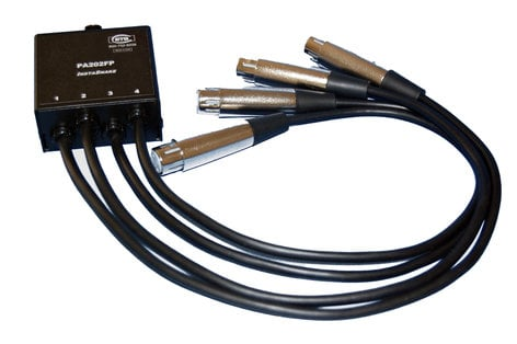 ETS PA202FP 4x XLR-F to 1.5 ft. Pigtail to RJ45 InstaSnake Adapter ETS-PA202FP