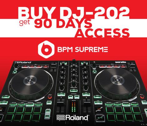 Roland DJ-202 DJ Controller 2-Channel Compact Serato DJ Controller