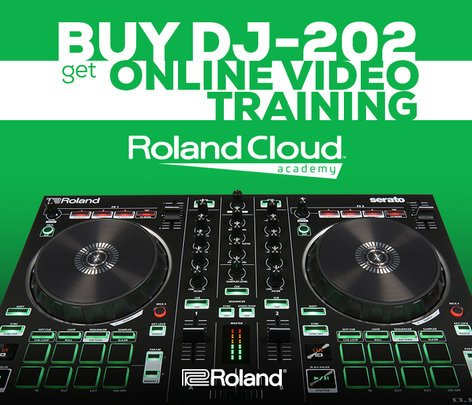 Roland DJ-505 2-Channel Serato DJ Controller with Drum Machine & Sequencer DJ-505