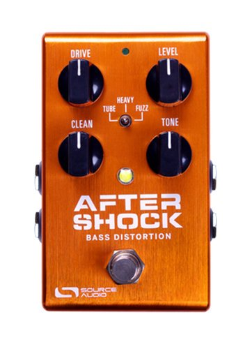 Source Audio AfterShock Bass Distortion Bass Distortion Pedal with App Connectivity and MIDI Capabilities SA246