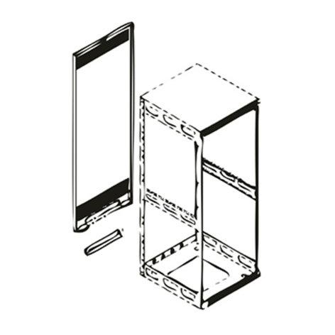 "Middle Atlantic Products Rap 37 65"", 37-Space Rear Access Panel for Model 5-37 Slim-5 Rack RAP-37"