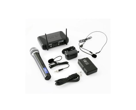 Pyle Pro PDWM3378 UHF Wireless Microphone System Kit with Handheld Mic, Headset Mic, Lavalier Mic & Beltpack PDWM3378