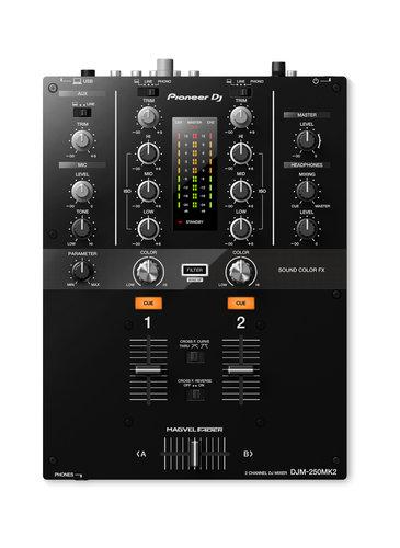 Pioneer DJM-250MK2 [RESTOCK ITEM] 2-Channel DJ Mixer with Soundcard DJM-250MK2-RST-01