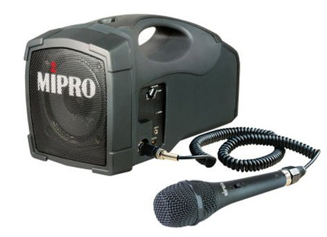MIPRO MA101C/MM107 Portable Sound System (with MM-107 Cabled Microphone) MA101C/MM107