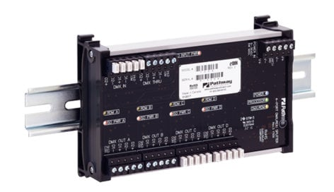 Pathway Connectivity 1009 4-Way eDIN DMX/RDM Splitter P1009