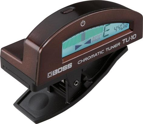 Boss TU10-BROWN Clip-On Chromatic Tuner in Brown TU10-BROWN