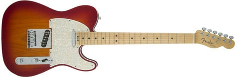 Fender American Elite Telecaster [DISPLAY MODEL] Single Cutaway SS Electric Guitar with Alder Body and Maple Fingerboard TELE-AMELITE-MPL-DIS