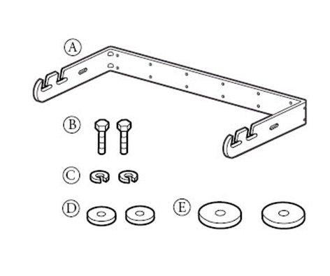 EAW MK2/5000-WHITE U-Bracket Compact Install Speaker U-Bracket in White MK2/5000-WHITE