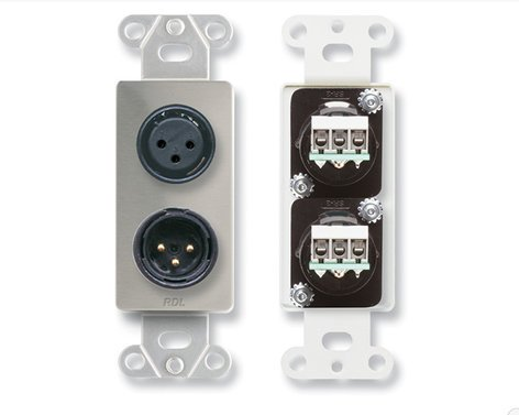 Radio Design Labs DS-XLR2 [RESTOCK ITEM] Wall Plate DS-XLR2-RST-01