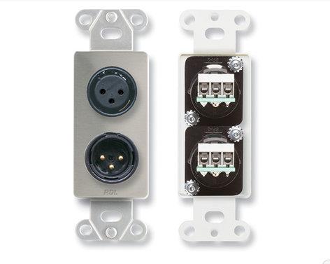 RDL DS-XLR2-RST-01 DS-XLR2 [RESTOCK ITEM] Wall Plate DS-XLR2-RST-01