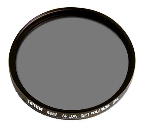 Tiffen 82LLPOL 82mm Polarizer Filter, Low Light 82LLPOL
