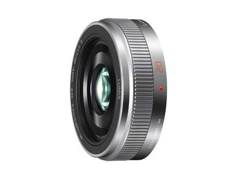 Panasonic H-H020AS Silver Lumix G 20mm F1.7 II ASPH Lens with MFT Mount H-H020AS