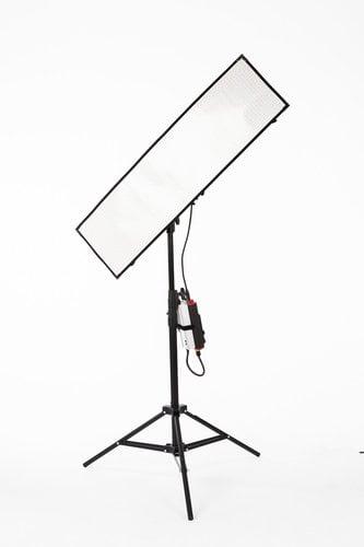 Aladdin BI-FLEX4 Kit with Case 1' x 4' 200W Bi-Color LED Kit with Gold Mount Plate and DMX AMS-FL200BIKITC-GM
