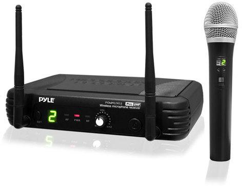Pyle Pro PDWM1902 [RESTOCK ITEM] Premier Series UHF Wireless Handheld Microphone System PDWM1902-RST-03