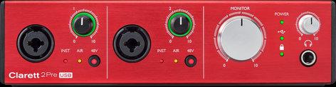 Focusrite CLARETT-2PRE-USB Clarett 2Pre USB 10-In, 4-Out Audio Interface for PC and Mac CLARETT-2PRE-USB