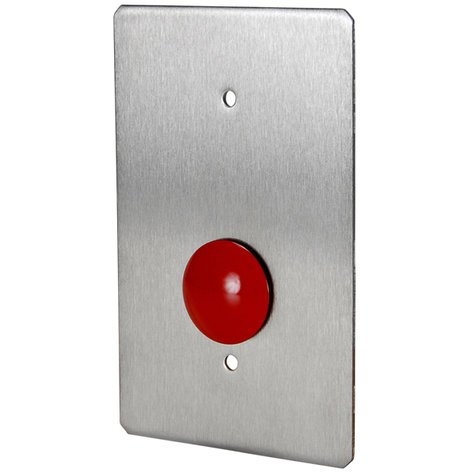 Quam CIB2/MB  Switch, Call-In, 1-Gang, Stainless, Vandal Resistant, Mushroom Button CIB2/MB
