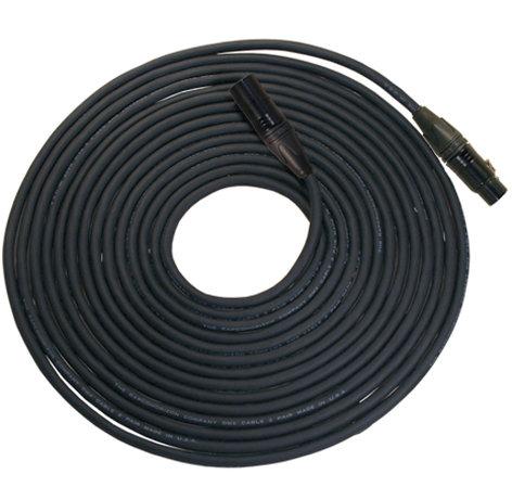 RapcoHorizon Music NBGDMX3-150 [RESTOCK ITEM] 150 ft. 3-Pin DMX Lighting Cable with 1-Pair Cable, 24 Gauge Conductors, Neutrik XLR Connectors NBGDMX3-150-RST-01