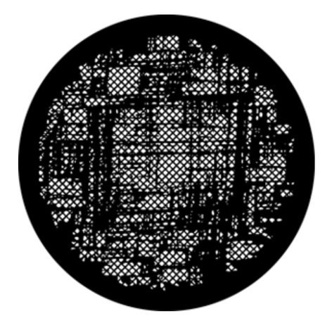 Rosco Laboratories 76595  Abstract Weave Steel Gobo 76595
