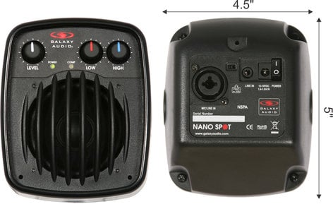 Galaxy Audio NSPA 25W Powered Nano Spot Personal Monitor NSPA