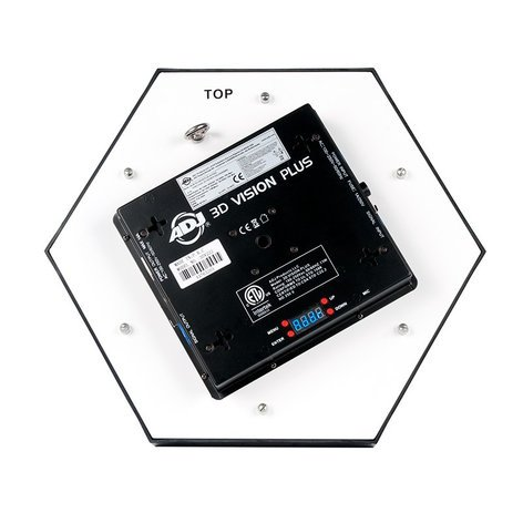 ADJ 3D Vision Plus Hexagonal LED Effect Panel with Onboard Display and DMX 3D-VISION-PLUS