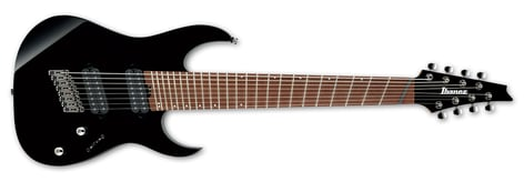 Ibanez RGMS8 Cosmo Black 8-String Electric Guitar RGMS8