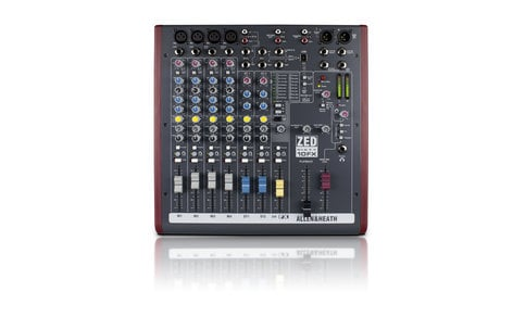 Allen & Heath ZED-60/10FX 10 Channel Mixer with FX and 60mm Faders ZED-60/10FX