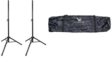 Vu SSA100 Bundle (2) SSA100-10B Aluminum Speaker Stands with (1) STB100-103 Dual Tripod Speaker Stand Bag SSA100-PK1-K