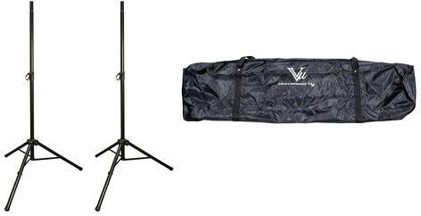 Vu SSA100-PK1-K SSA100 Bundle (2) SSA100-10B Aluminum Speaker Stands with (1) STB100-103 Dual Tripod Speaker Stand Bag SSA100-PK1-K