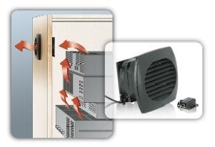 Middle Atlantic Products CAB-COOL Single Fan Cabinet Cooler, 20-CFM, 24dBA, 12-VDC@100mA CAB-COOL