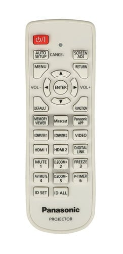 Panasonic N2QAYA000107 Remote for PT-VZ575N N2QAYA000107