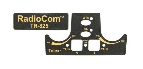 Telex F.01U.110.520 TR-825 Keypad Label Set F.01U.110.520