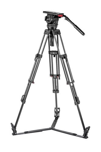 Sachtler System 18 S2 ENG 2 CF Video 18 S2 Fluid Head with ENG 2 CF Tripod and Ground Spreader 1862S2