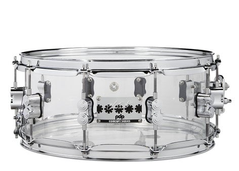 Pacific Drums PDSN0614SSCS  Chad Smith Signature 6x14 Clear Acrylic Snare Drum  PDSN0614SSCS