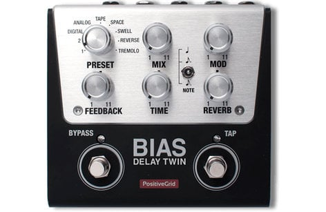 Positive Grid BIAS-DELAY-TWIN BIAS Delay Twin Tone Match Delay Pedal (2 Button)  BIAS-DELAY-TWIN